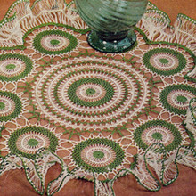 Ruffled Hairpin Lace Vintage Doily Pattern
