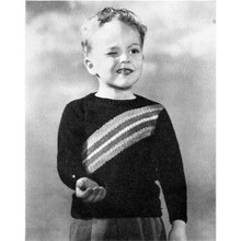 Boys Knitted Pattern with Diagonal Stripe