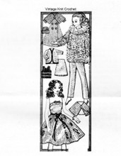 Knitted Barbie Doll Cloths, Dress Pants Coat, Alice Brooks 7490