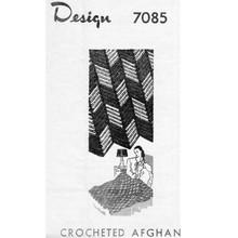 Mail Order Geometric Crochet Afghan Pattern Design 7085