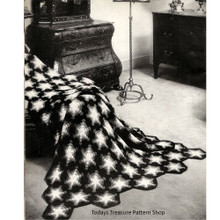 Vintage Wagon Wheel Afghan Crochet Pattern