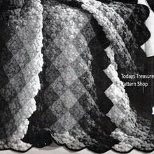 Diamond Stripe Crochet Afghan pattern in Popcorn Stitch