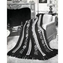 Elegant Striped Key Crochet Afghan Pattern