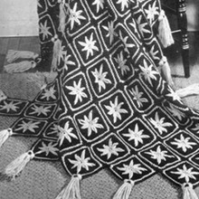 Vintage Starfish Afghan Crochet Pattern with Tassels