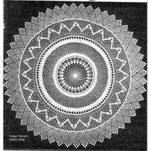 Armenian Lace Crocheted Doily pattern from Workbasket