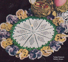 Vintage Pansy Crochet Pattern from American Thread