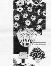 Pineapple Crochet Basket Pattern, Laura Wheeler 619