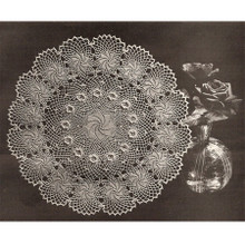 Vintage Rose of Erin Pinwheel Crochet Doily Pattern