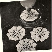 Vintage Crochet Sherbert Doilies Pattern