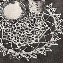 Vintage Crochet Doily Pattern, Forest Pool