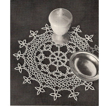 Vintage Queens Necklace Tatted Doily Pattern