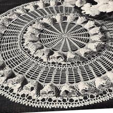 Crochet Fluted Centerpiece Doily Pattern