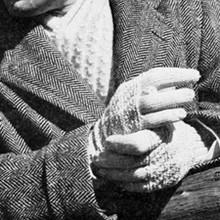 Mans String Gloves Scarf Knitting Pattern Is Vintage 1940s