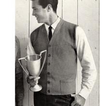 Vintage Knitting Pattern Mans Vest