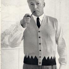 Mans Sleeveless Cardigan Knitting pattern