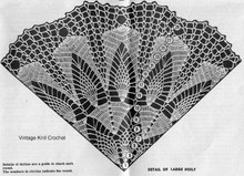 Large Doily Crochet pattern stitch illustration, Mail Order 713