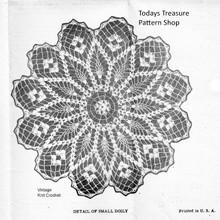 Flower Crochet Doily Pattern, Pineapples, Laura Wheeler 883