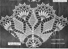 large flower doily crochet illustration, Mail Order 735