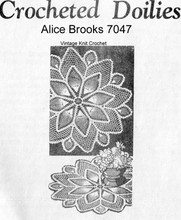 Crocheted Pineapple Doilies Pattern, Mail Order 7047