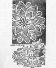 Mail Order Crochet Pineapple Doily Pattern, Design 7047