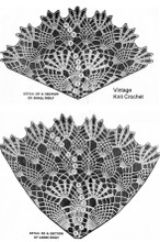 Crochet Doily Pattern Illustration, Pineapple Shell Stitch, Design 869