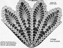 Large pineapple wheel doily illustration for Design 738