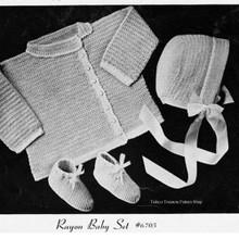 Side Buttoned Crochet Baby Set Pattern