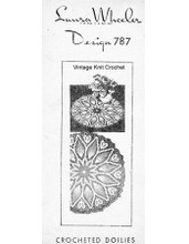 Crochet Pineapple Doily Pattern in three sizes, Mail Order 787