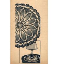 Lollipop Crochet Pineapple Doily Pattern Design 7215