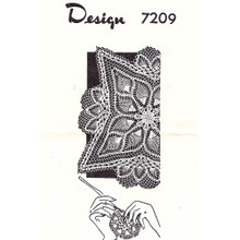 Mail Order 7209 Square Pineapple Doily Pattern