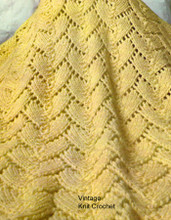 Lace Afghan Knitting Pattern is 48 x 60 inches