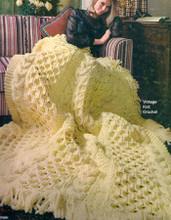 Bulky Knitted Irish Fisherman Afghan Pattern
