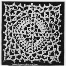 Crochet Square Hot Springs Medallion pattern for bedspreads