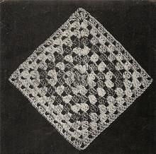 Diamond Crochet Block for Bedspread Pattern No 554