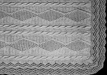 Trailing Vine Knitted Pattern Stitch Illustration
