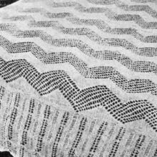 vintage knitting pattern for zig zag bedspread