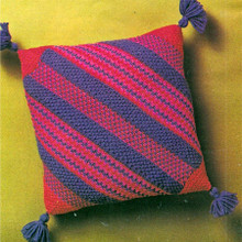 Knitted Diagonal Stripe Pillow Pattern