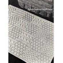 Knitting Pattern Stitch Sampler Rug
