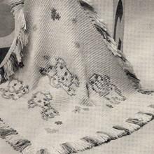 Crochet Baby Blanket with Cross Stitch Motif