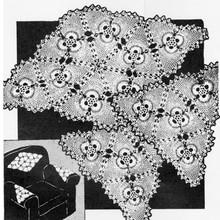 Pineapple Pyramid Crochet Chair Set Pattern No 2874