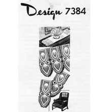 Design 7384, Crochet Pineapple Panels