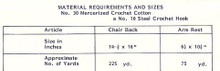 Crochet Thread Requirements for Chair Set