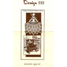 Mail Order Design 555, Old Fashioned Girl Chair Set Pattern