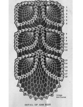 Pineapple Pattern Stitch Illustration for Mail Order 535