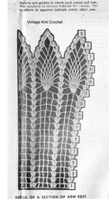Crochet Pineapple Arm Rest Pattern Stitch Illustration, Laura Wheeler 624