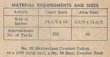Crochet Thread Requirements for Laura Wheeler 540