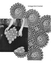 Flower Medallion Crochet Pattern, 3-1/8 inches