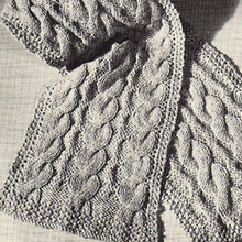 Free Knitting pattern for Easy Cable Scarf
