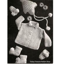 Baby Boy Crochet Layette Pattern