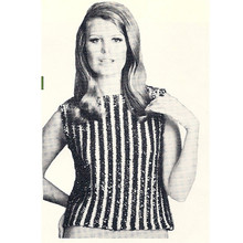 Sequin Stripe Shell Knitting Pattern